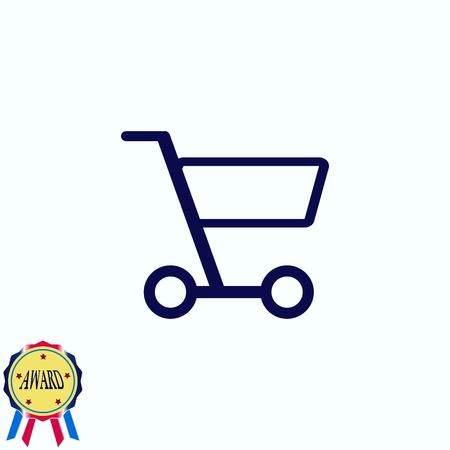 add to cart: Shopping trolley, cart icon