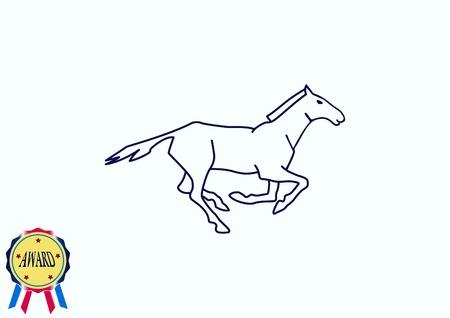 Horse icon. vector illustration.