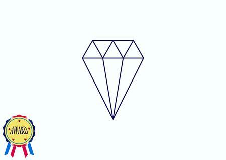 diamond icon, vector illustration