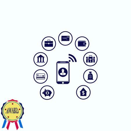 Internet banking icon. Иллюстрация