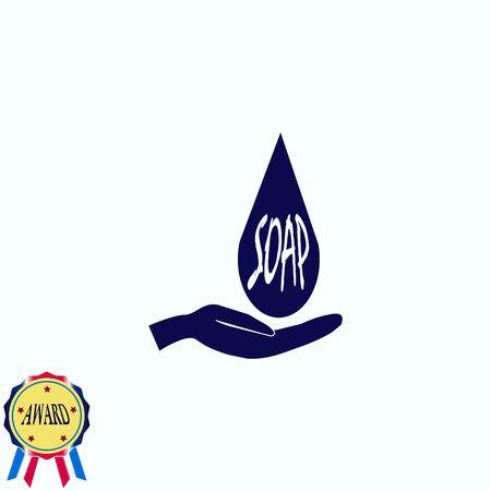 Seife-Symbol Standard-Bild - 81082836