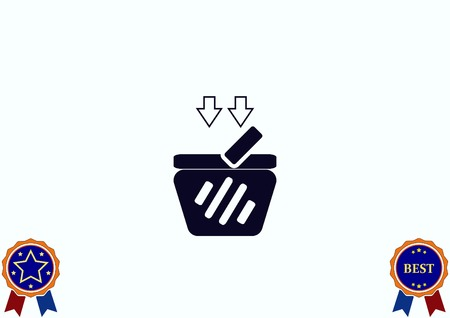 add to cart: Shopping trolley, cart icon, On line sale icon vector illustration.