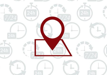 mobile app: Navigator Guide itinerary icon vector illustration.