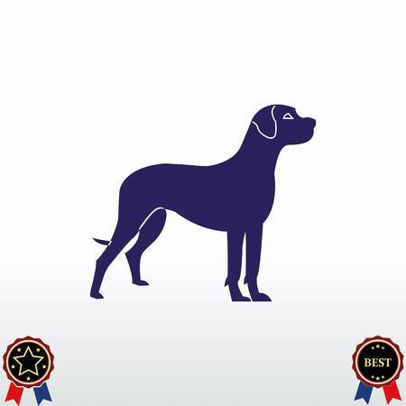 Dog in standing position icon. vector illustration Illustration