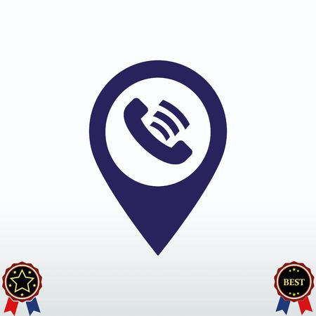 map pin: Navigator Guide itinerary icon vector illustration.