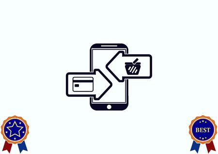 electronic commerce: On line sale icon vector illustration.
