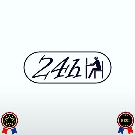 hotline: Clock icon Illustration