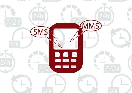 old telephone: Phone talk icon