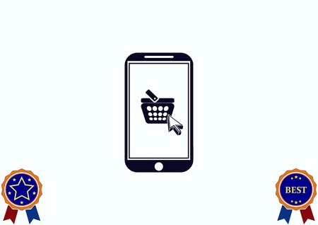 supermarket: On line sale icon