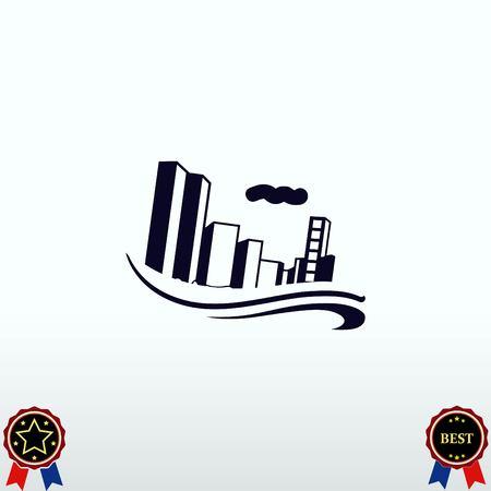 Flood, Typhoon icon. Disaster.