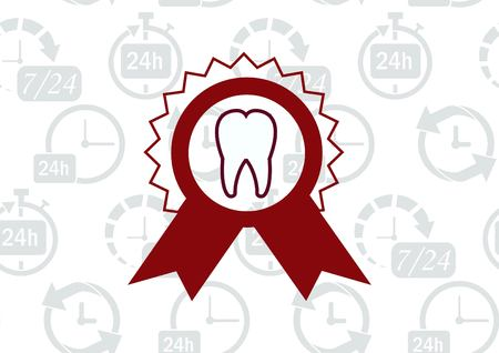 Dentistry, dental treatment  icon Illustration