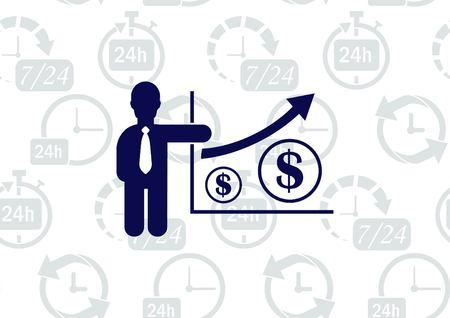 Bedrijfsstrategie pictogram, business concept icon