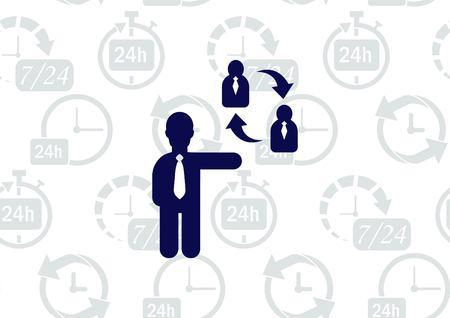 Bedrijfsstrategiepictogram, bedrijfsconceptenpictogram Stock Illustratie
