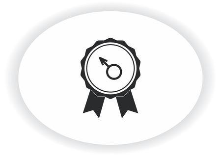 Healthy man to cure prostatitis Urology icon Illustration