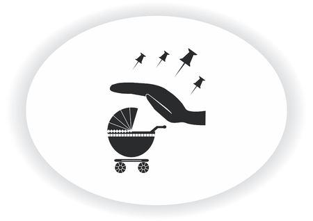 Kinderwagen Symbol Standard-Bild - 89714577