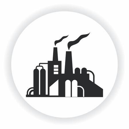 Factory silhouette icon.