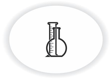 실험실 장비, 화학, 과학 아이콘 일러스트