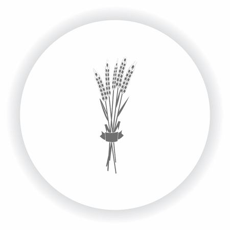 Wheat icon, Farm products logo, Retro landscapes. Editable EPS10 vector illustration, Agriculture field.