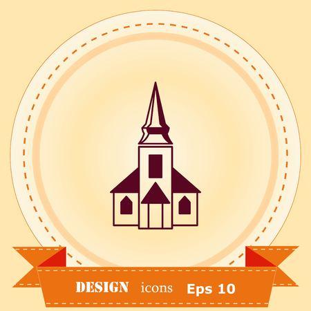 Christian church, house of prayer, Baptist icon