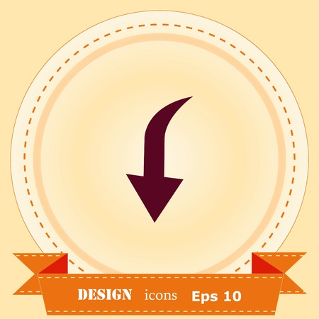 Arrow indicates the direction icon illustration Ilustração