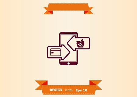 Online sale icon design illustration