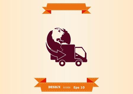 logistics icon vector illustration.