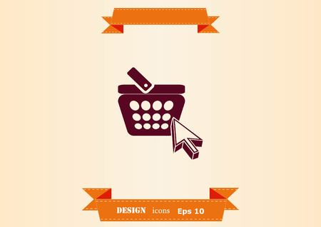 Shopping trolley, cart icon, On line sale icon Illusztráció