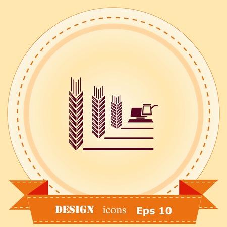 Farm products design illustration Ilustração
