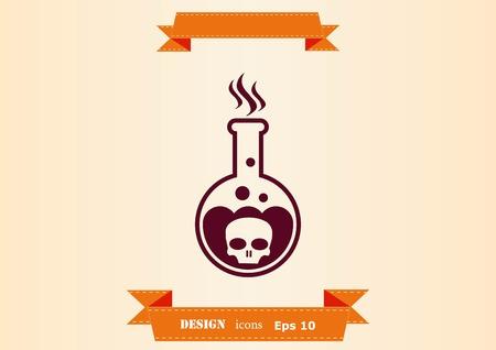Laboratory equipment, chemistry, science icon design illustration