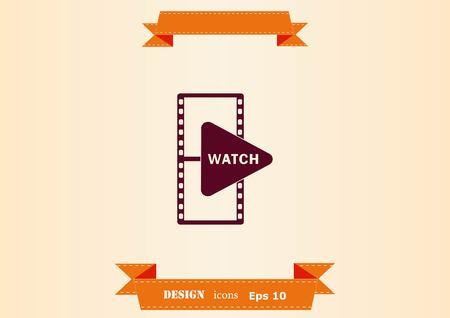 Movie icon design illustration Vectores
