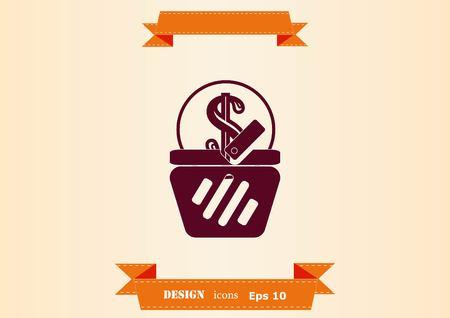 Electronic money icon vector illustration. Illustration