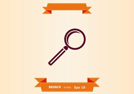 Search icon design illustration Illustration
