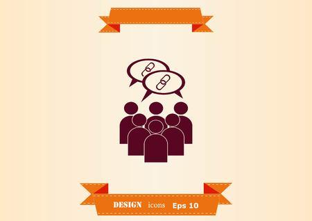 Friends icon design illustration