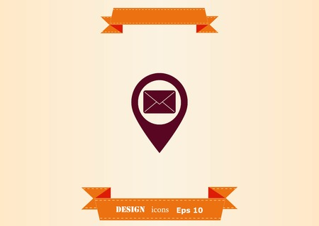 Navigator Guide itinerary icon Ilustrace