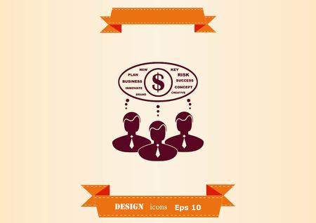 Icono de estrategia empresarial, icono del concepto de negocio, ilustración vectorial.