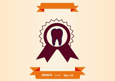 Dentistry, dental treatment icon design illustration Illustration