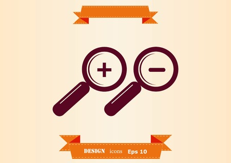 Search icon with magnifying glass Illustration