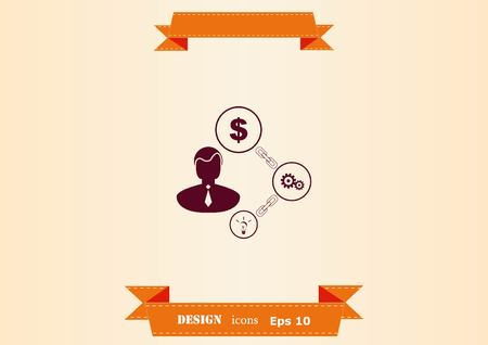 Business strategy icon vector illustration.