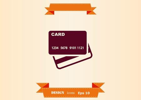 Corporate card icon, credit card icon, vector illustration. Vettoriali