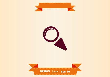 Search icon isolated on cool background Illustration