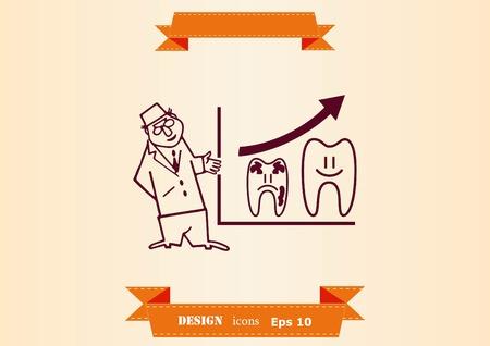 Dentistry, dental treatment icon illustration 向量圖像