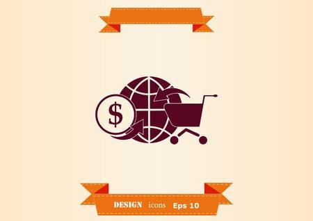 Online sale icon illustration Illustration