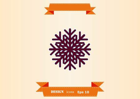 Snowflake icon illustration