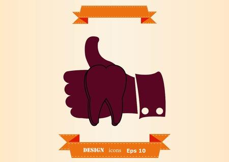 Dentistry, dental treatment icon illustration 일러스트