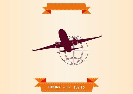 Aircraft icon  イラスト・ベクター素材