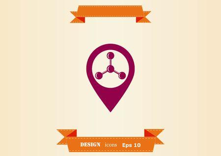 Navigator Guide itinerary icon 向量圖像