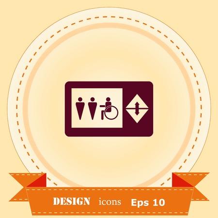 Elevator icon, Lift or elevator symbol, vector illustration.