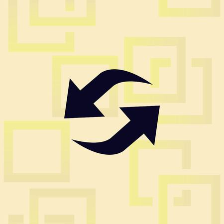 Arrow indicates the direction icon design Stock Illustratie