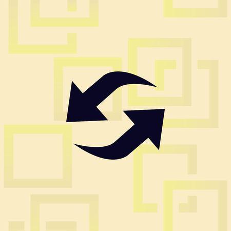 Arrow indicates the direction icon design Ilustração