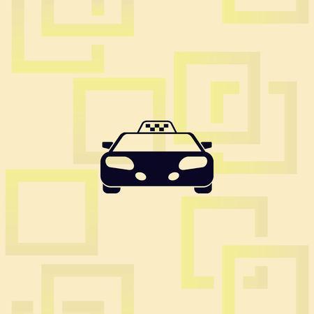 Taxi icon design Vettoriali